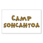 Camp Sohcahtoa Trigonometry Sticker (Rectangle)