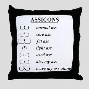 assicons Throw Pillow