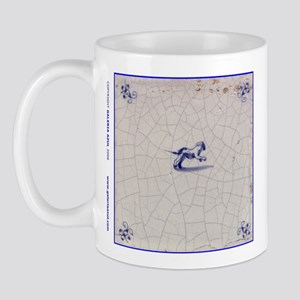 Leaping Dog Tile: Mug