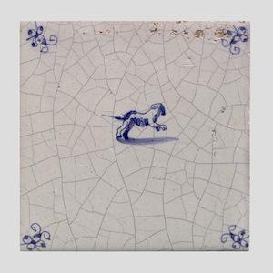 Leaping Dog Tile: Tile Coaster