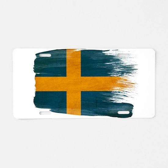 Sweden Flag Aluminum License Plate