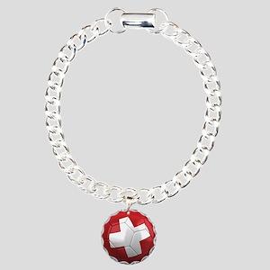 Team Switzerland Charm Bracelet, One Charm