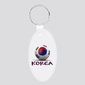 Team South Korea Aluminum Oval Keychain