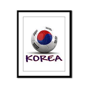 Team South Korea Framed Panel Print