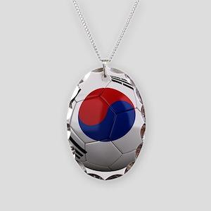 Team South Korea Necklace Oval Charm