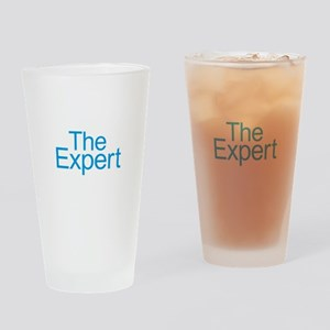 The Expert - Blue Drinking Glass