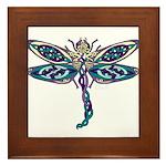 Celtic Dragonfly Framed Tile
