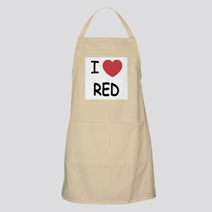 I heart red Apron