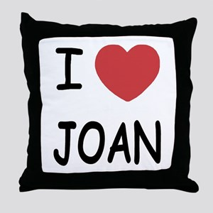 I heart joan Throw Pillow