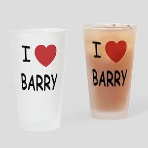 I heart barry Drinking Glass