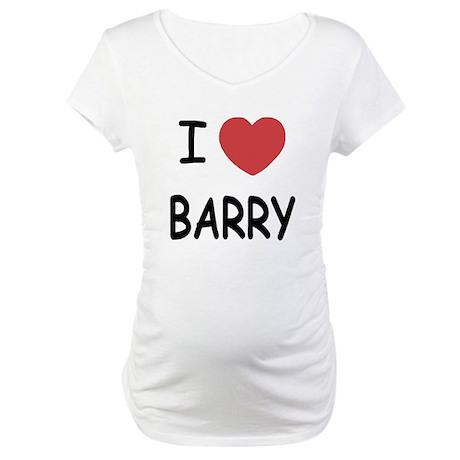 I heart barry Maternity T-Shirt