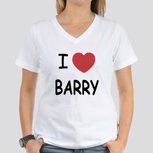 I heart barry Women's V-Neck T-Shirt