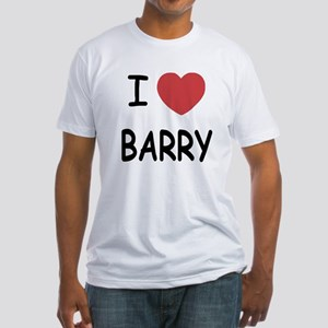 I heart barry Fitted T-Shirt
