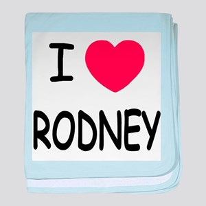 I heart rodney baby blanket