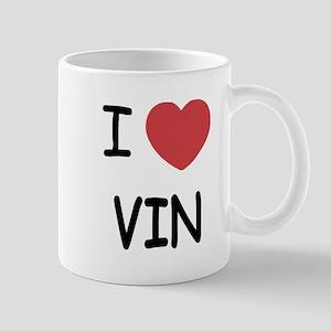 I heart vin Mug