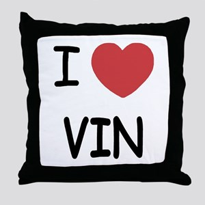 I heart vin Throw Pillow