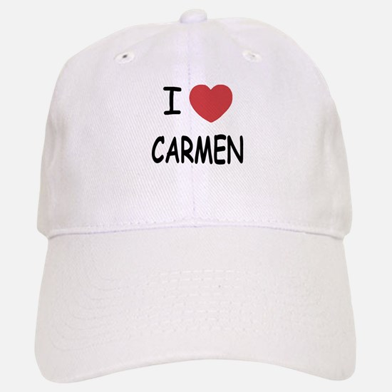 I heart carmen Baseball Baseball Cap