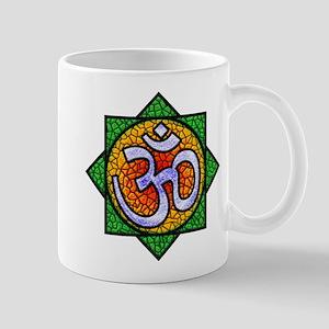 Stained glass OM Mandala 11 oz Ceramic Mug