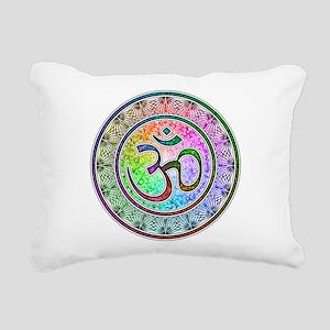OM-mandala Rectangular Canvas Pillow