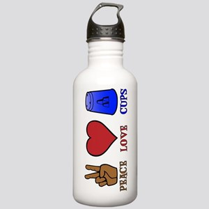 Peace,Love,Cups Stainless Water Bottle 1.0L
