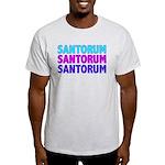 Rick Santorum Purple & Teal Light T-Shirt