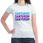Rick Santorum Purple & Teal Jr. Ringer T-Shirt