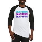 Rick Santorum Purple & Teal Baseball Jersey