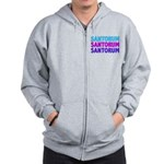 Rick Santorum Purple & Teal Zip Hoodie
