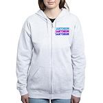 Rick Santorum Purple & Teal Women's Zip Hoodie