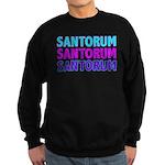 Rick Santorum Purple & Teal Sweatshirt (dark)