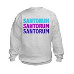 Rick Santorum Purple & Teal Kids Sweatshirt