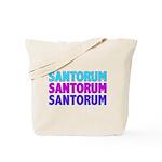 Rick Santorum Purple & Teal Tote Bag