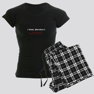"""I think, therefore I WRITE"" Women's Dark Pajamas"