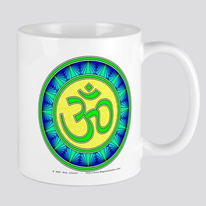 Green OM Mandala 11 oz Ceramic Mug