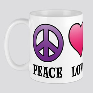 Peace,Love,Cups Mug