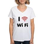 I Love Wi Fi Women's V-Neck T-Shirt