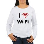 I Love Wi Fi Women's Long Sleeve T-Shirt