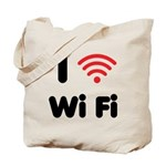 I Love Wi Fi Tote Bag