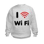 I Love Wi Fi Kids Sweatshirt