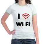 I Love Wi Fi Jr. Ringer T-Shirt