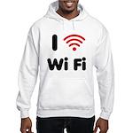 I Love Wi Fi Hooded Sweatshirt