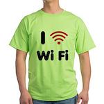 I Love Wi Fi Green T-Shirt