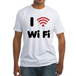 I Love Wi Fi Fitted T-Shirt