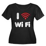 I Love Wi Fi Women's Plus Size Scoop Neck Dark T-S