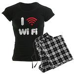 I Love Wi Fi Women's Dark Pajamas