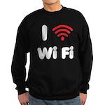 I Love Wi Fi Sweatshirt (dark)