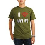 I Love Wi Fi Organic Men's T-Shirt (dark)