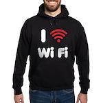 I Love Wi Fi Hoodie (dark)