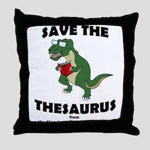 Save The Thesaurus Throw Pillow