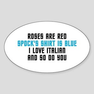 Star Trek Poem Sticker (Oval 10 pk)